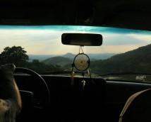 pohled na Růžovský vrch
